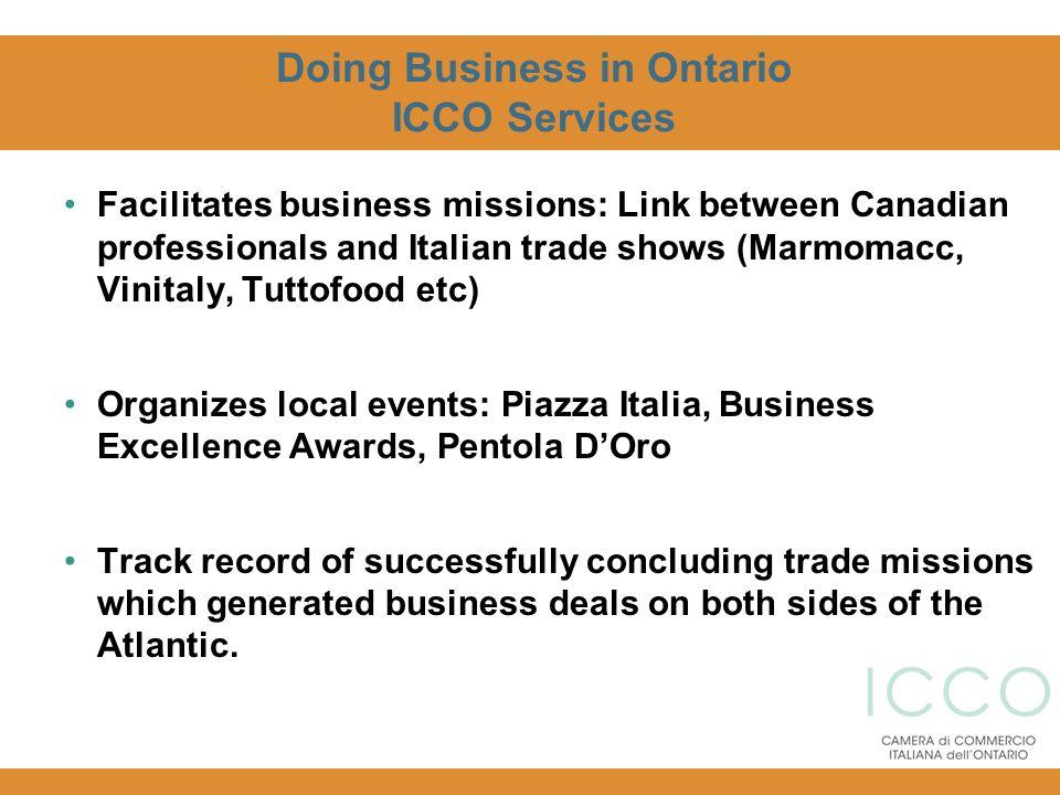 Doing Business in Ontario