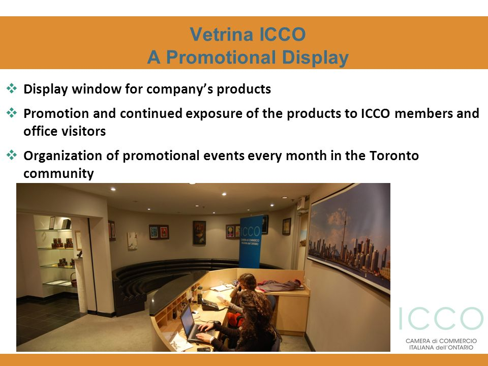 Vetrina ICCO A Promotional Display