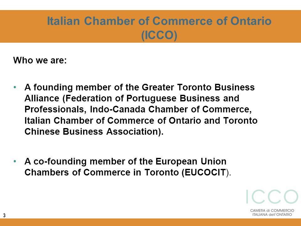 Italian Chamber of Commerce of Ontario (ICCO)