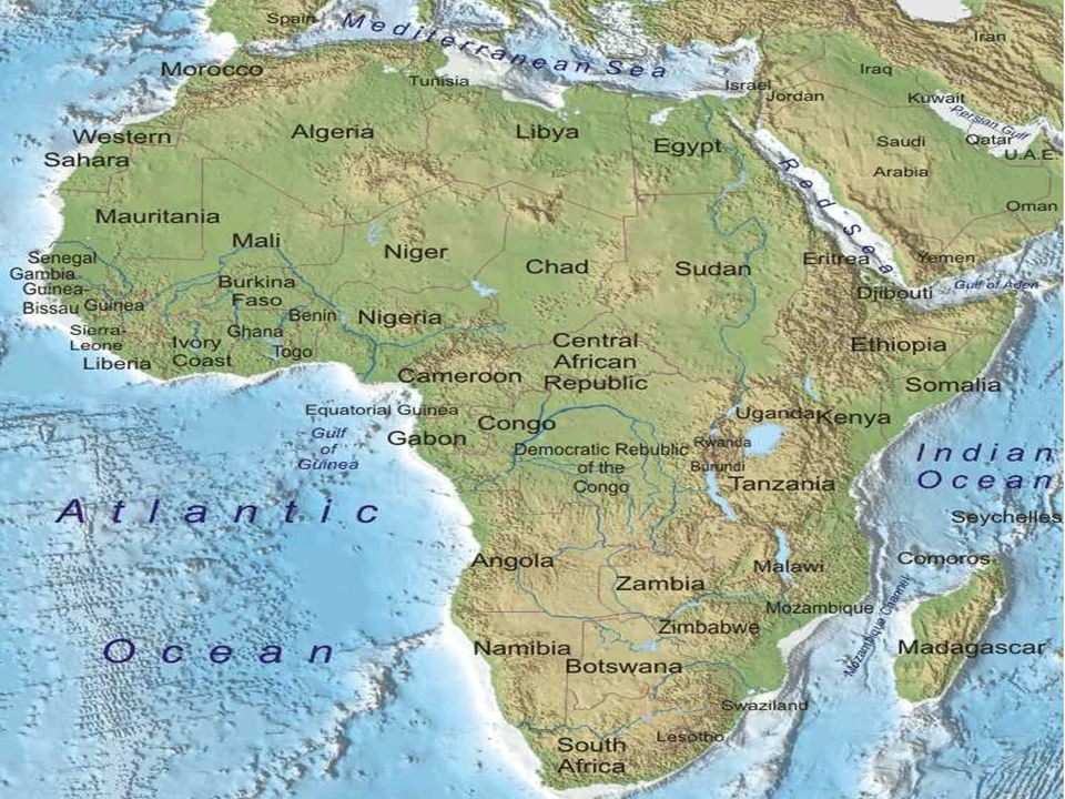 Physical Geography Of Africa Guiding Question How Does The - Africa physical map