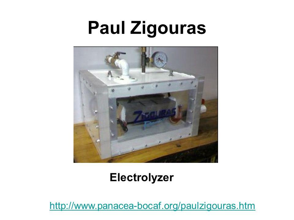 Paul Zigouras Electrolyzer