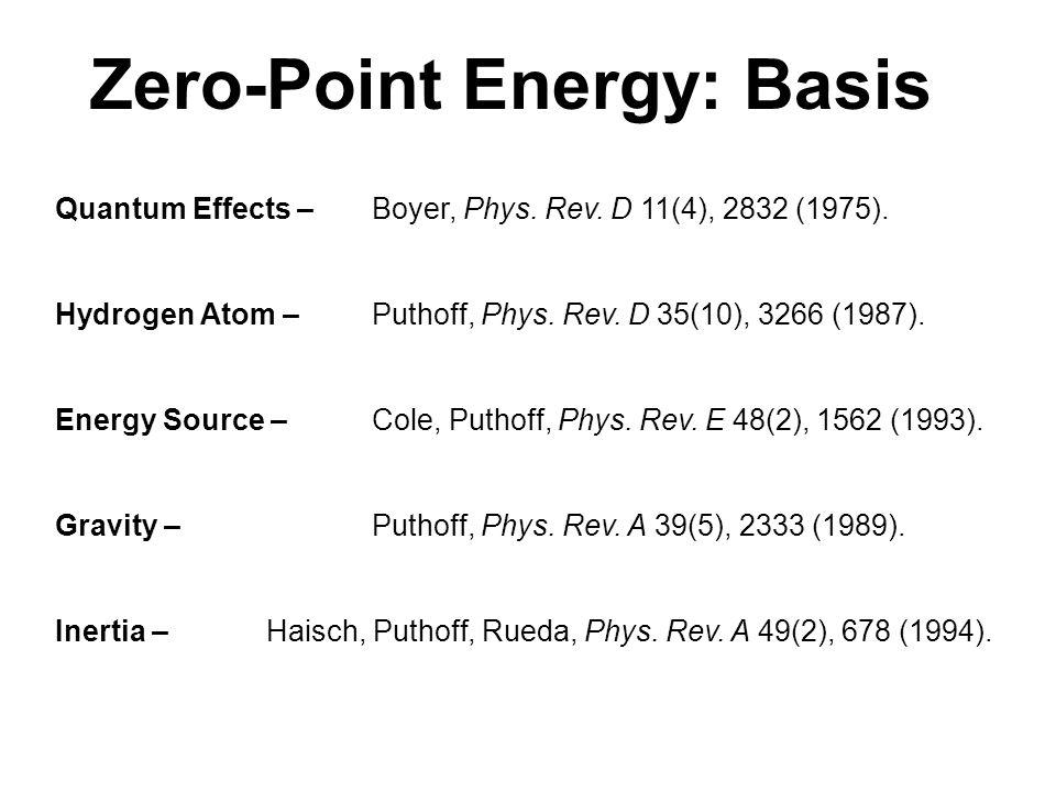 Zero-Point Energy: Basis