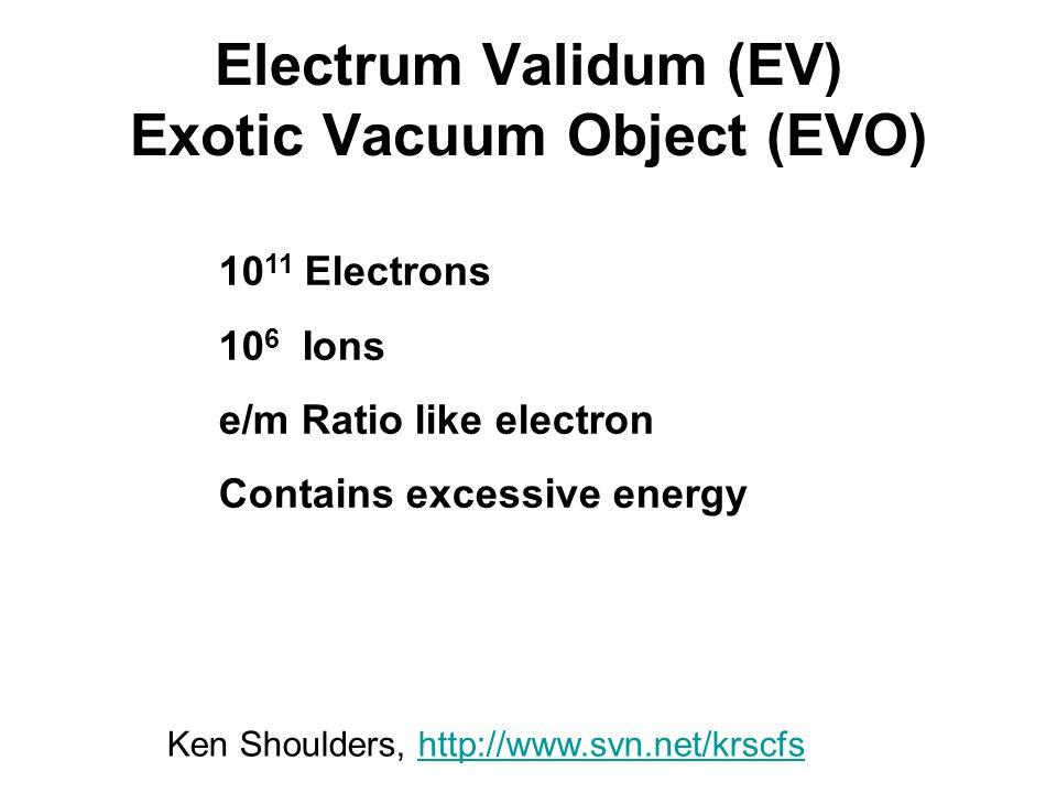 Electrum Validum (EV) Exotic Vacuum Object (EVO)