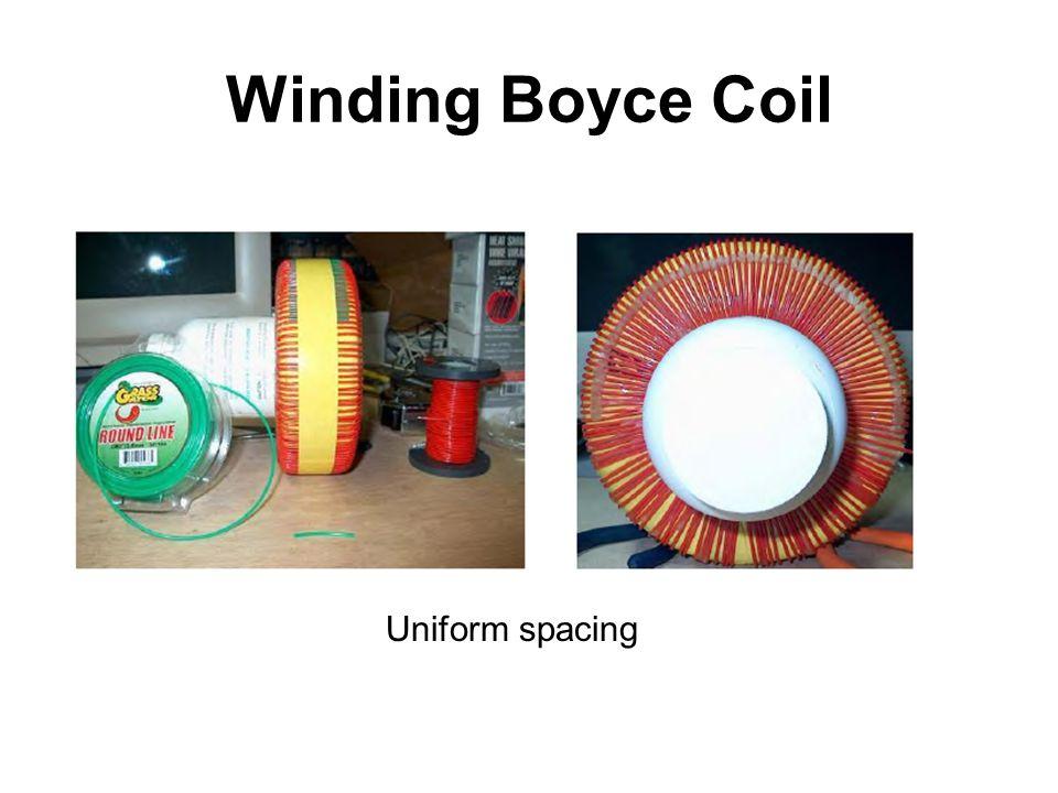 Winding Boyce Coil Uniform spacing