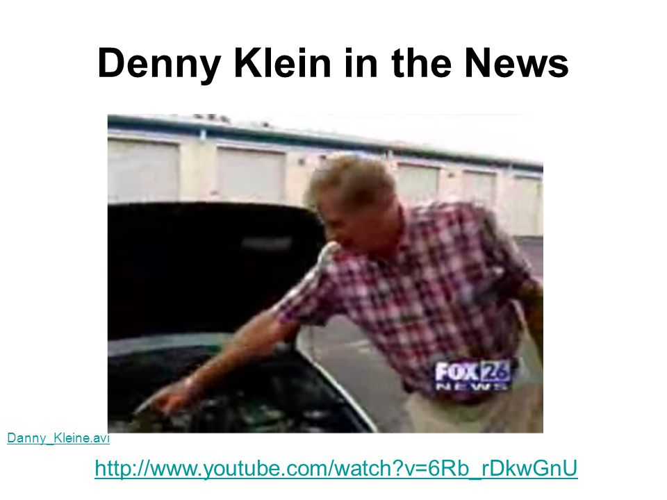 Denny Klein in the News http://www.youtube.com/watch v=6Rb_rDkwGnU