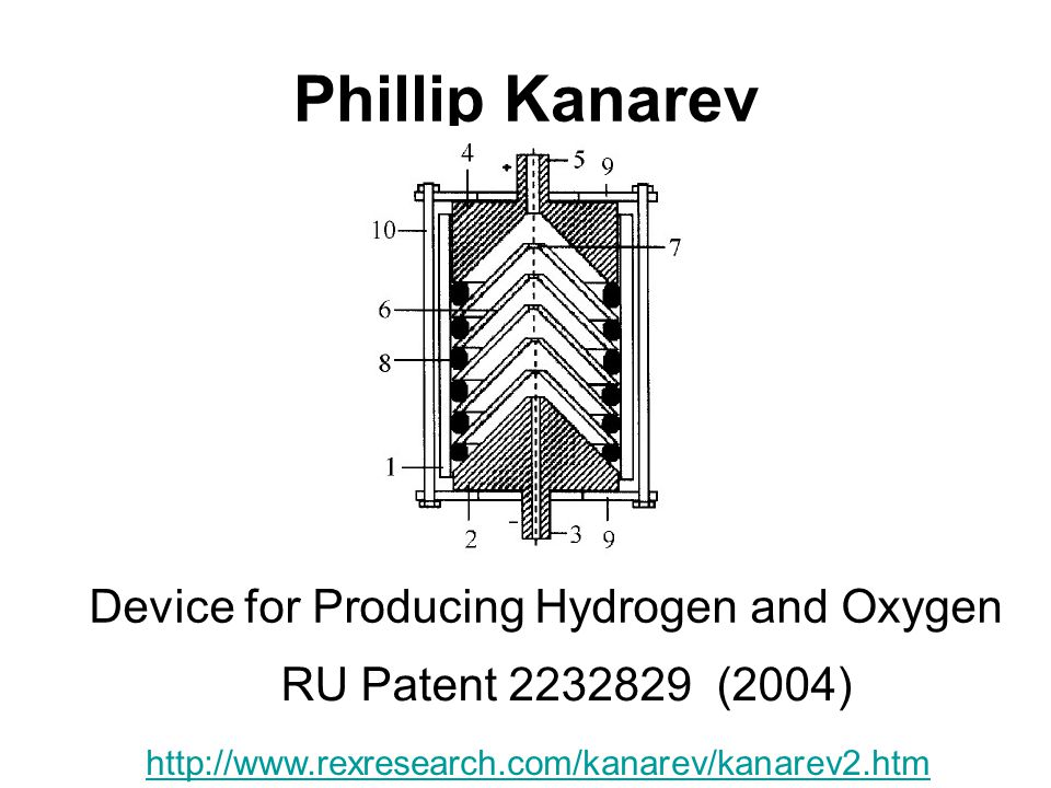 Phillip Kanarev Device for Producing Hydrogen and Oxygen