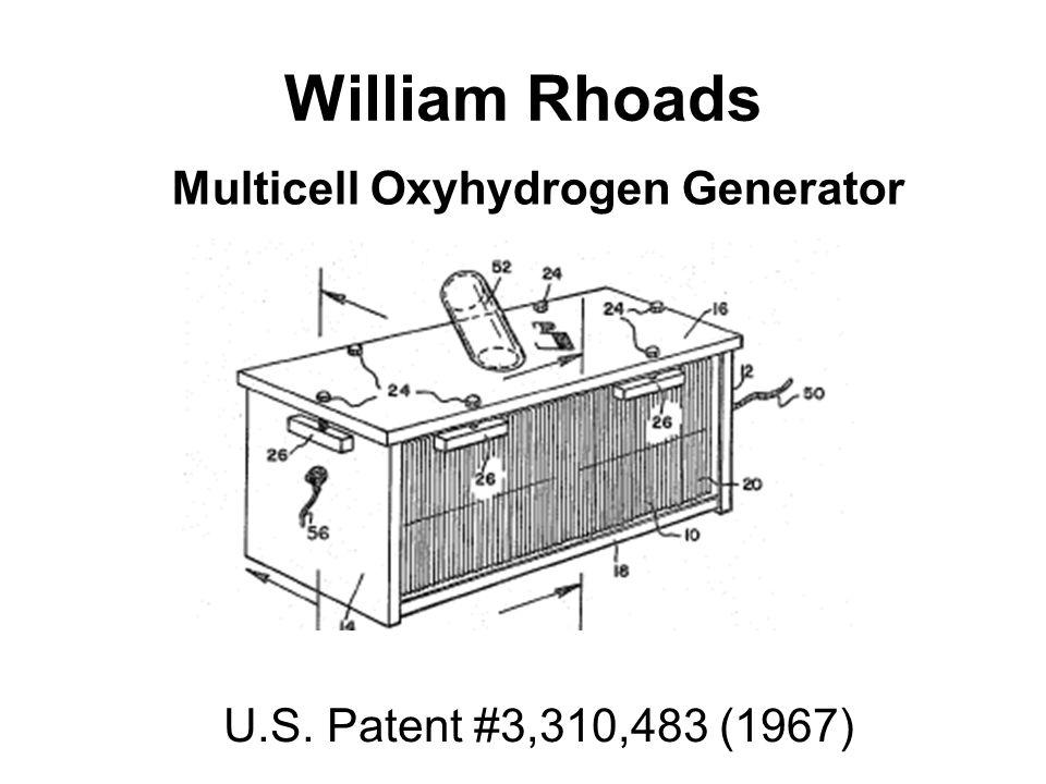 William Rhoads Multicell Oxyhydrogen Generator