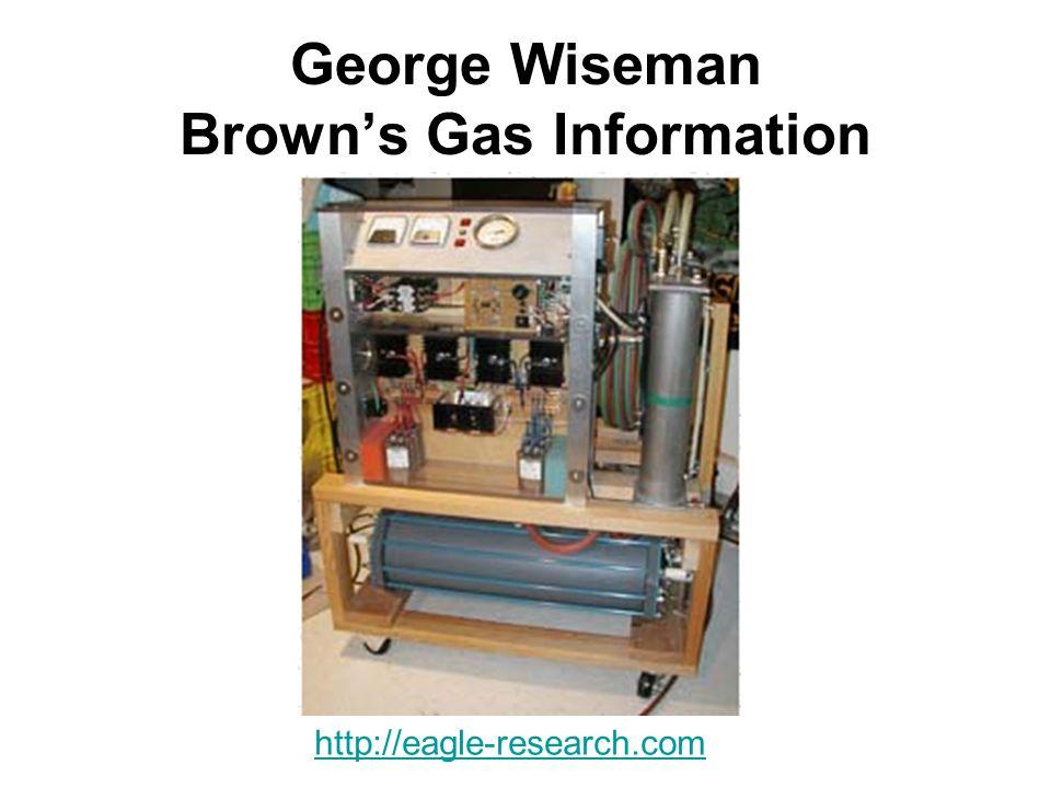 George Wiseman Brown's Gas Information