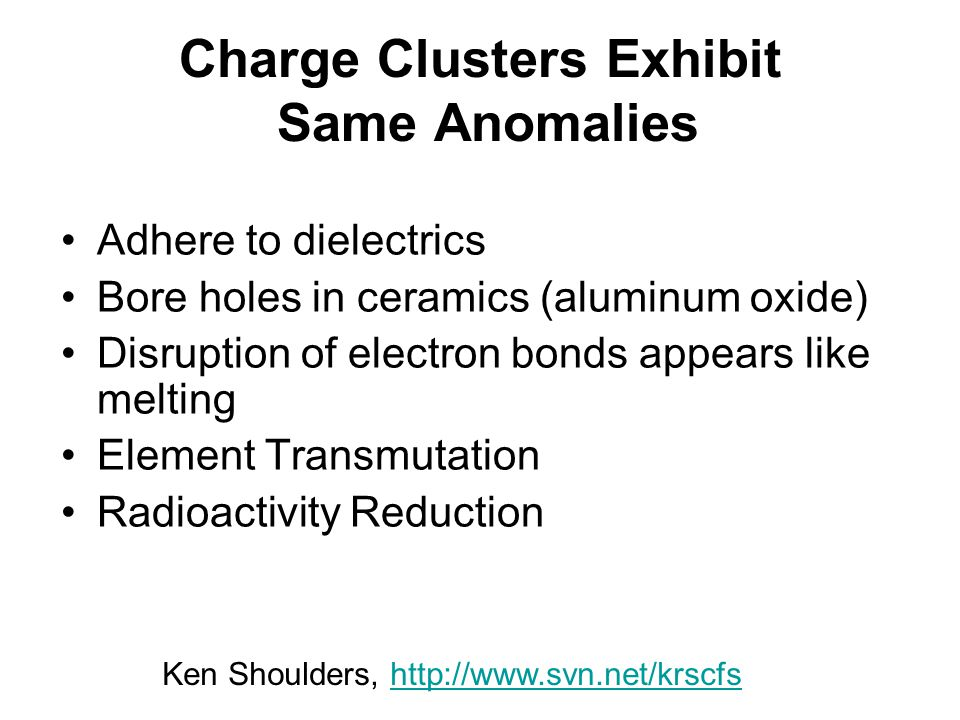 Charge Clusters Exhibit Same Anomalies