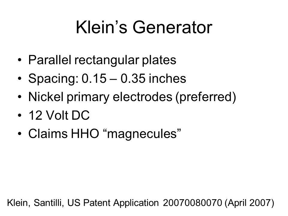 Klein's Generator Parallel rectangular plates