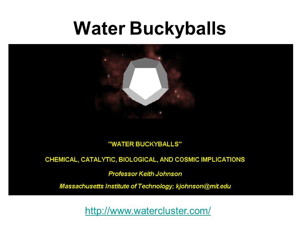 Water Buckyballs http://www.watercluster.com/