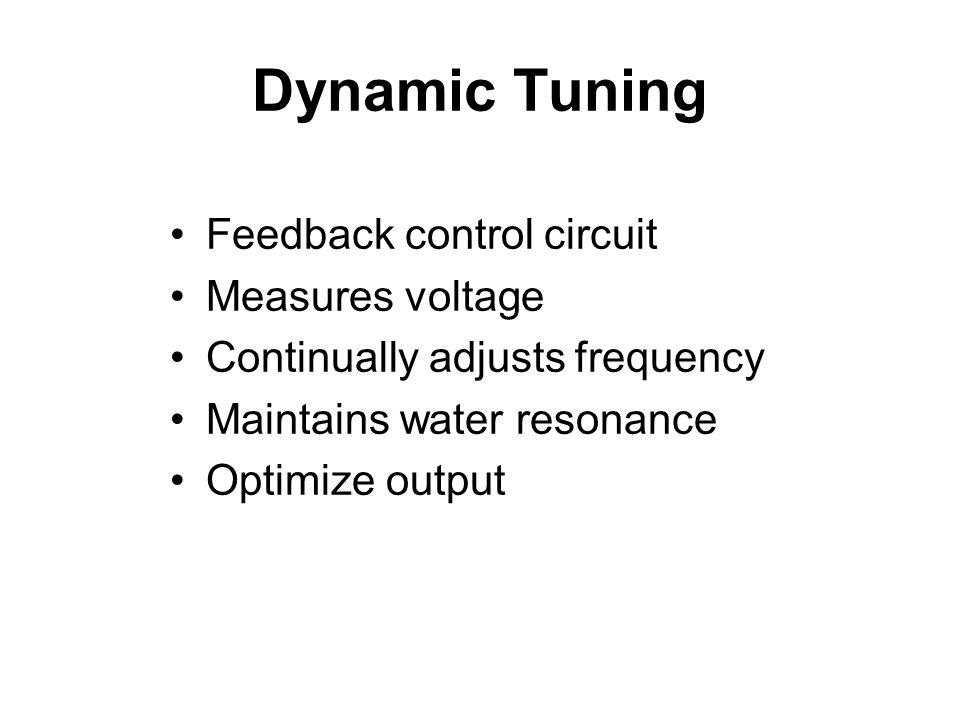 Dynamic Tuning Feedback control circuit Measures voltage