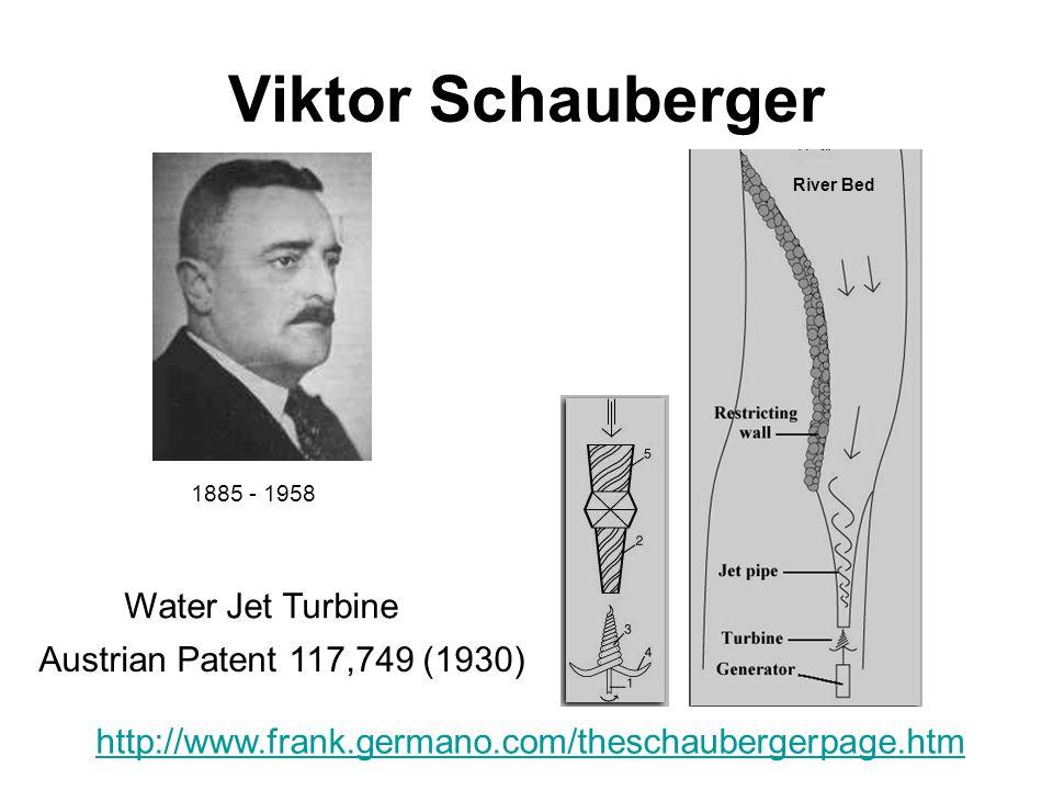 Viktor Schauberger Water Jet Turbine Austrian Patent 117,749 (1930)