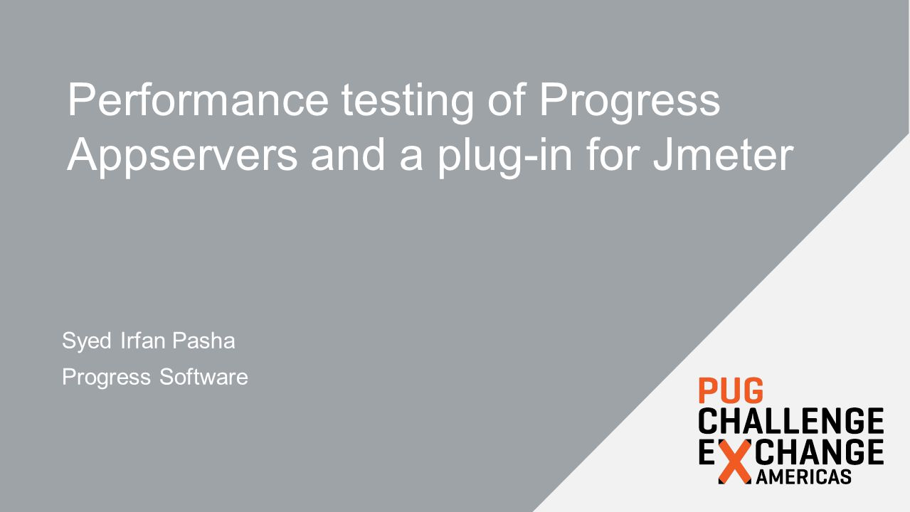 Performance testing of Progress Appservers and a plug-in for Jmeter