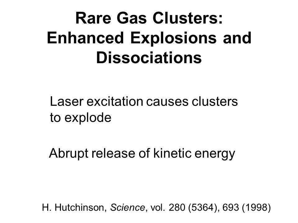 Rare Gas Clusters: Enhanced Explosions and Dissociations