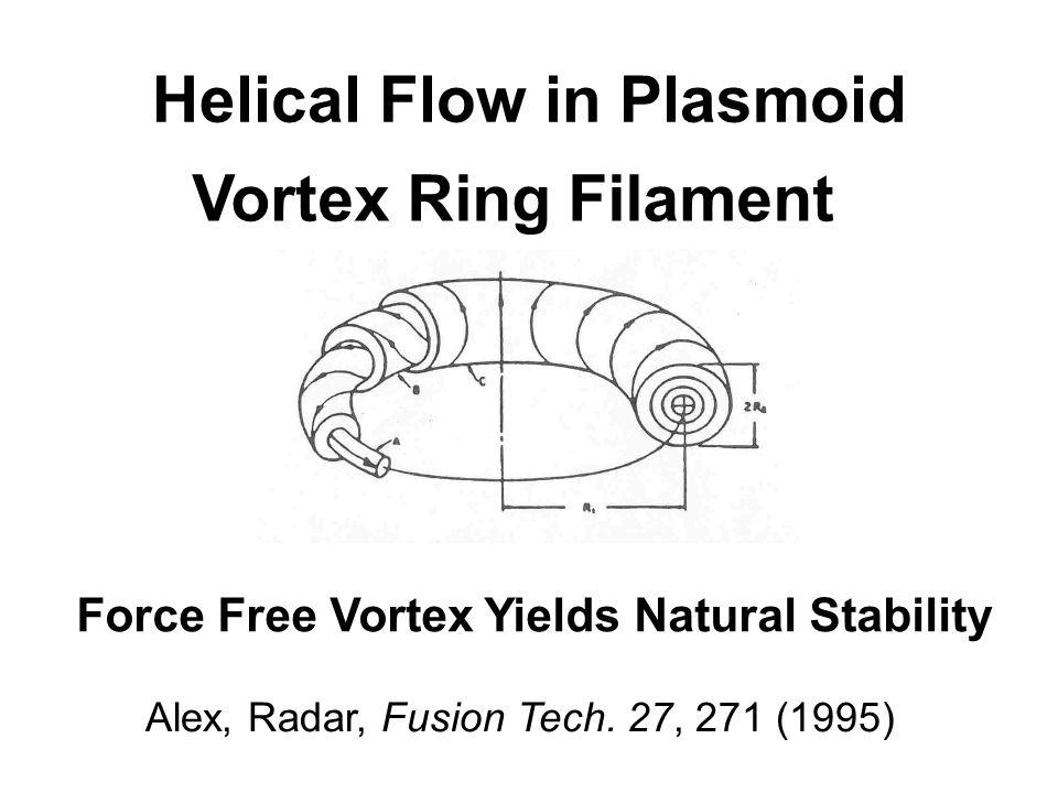 Helical Flow in Plasmoid