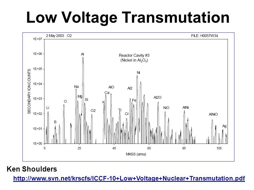 Low Voltage Transmutation