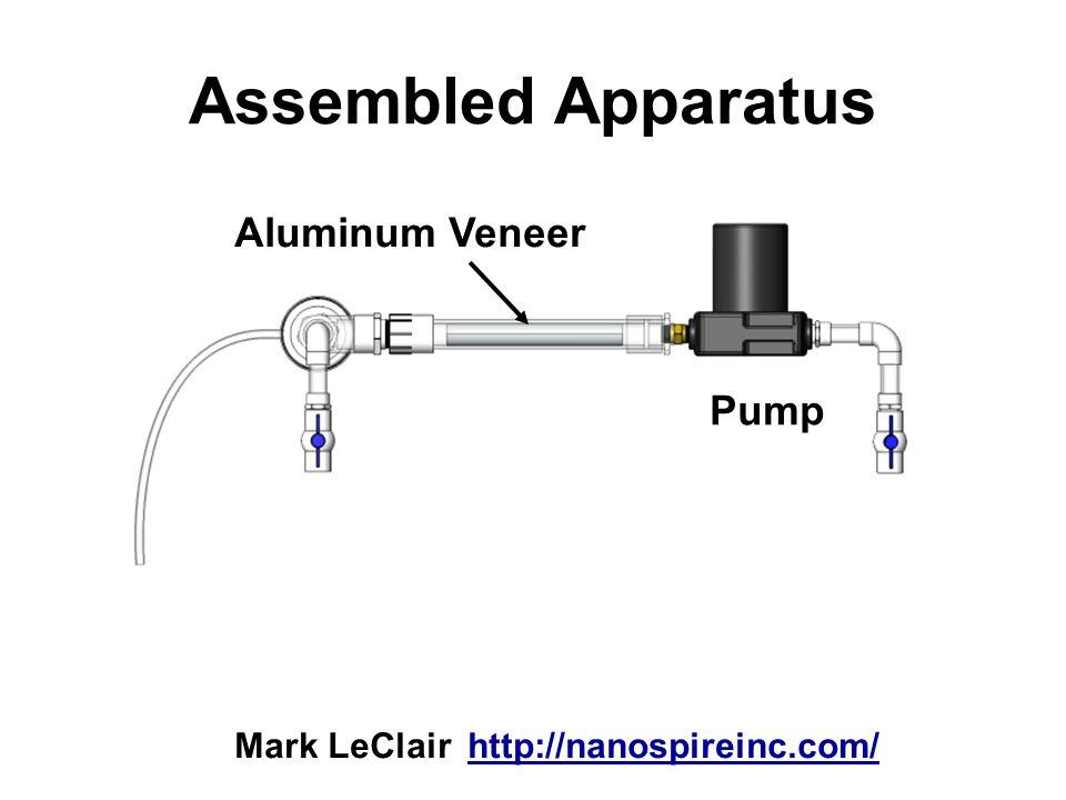 Assembled Apparatus Aluminum Veneer Pump
