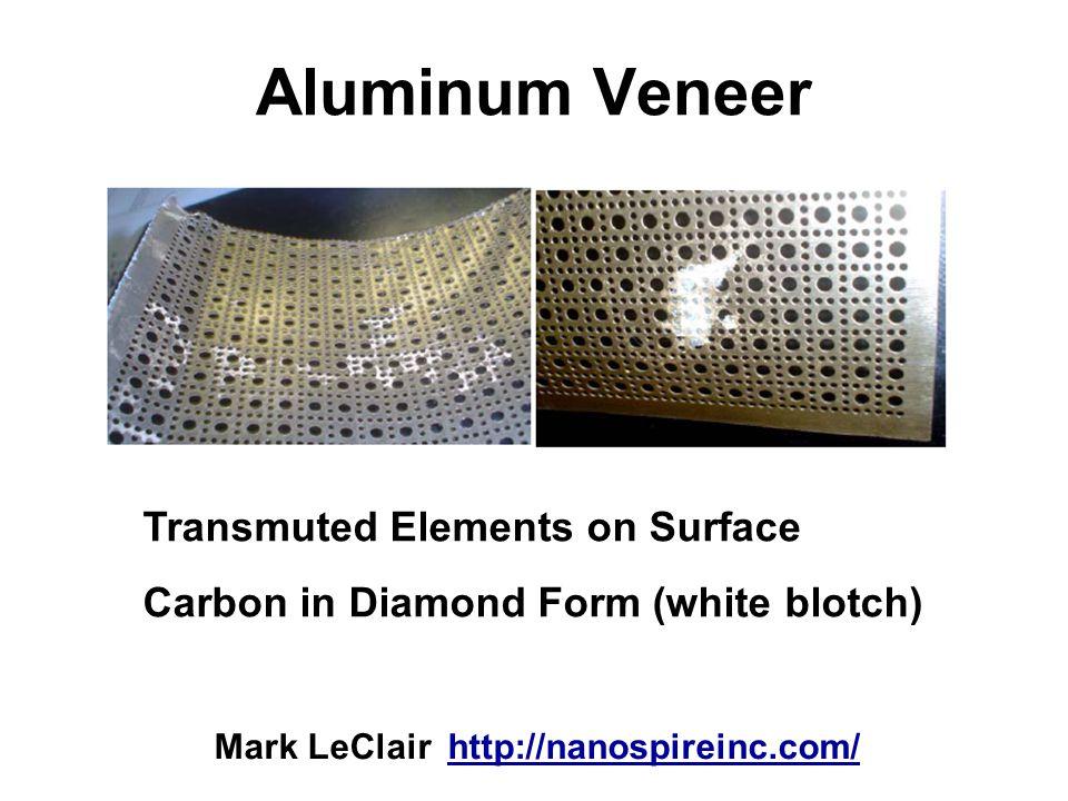 Aluminum Veneer Transmuted Elements on Surface