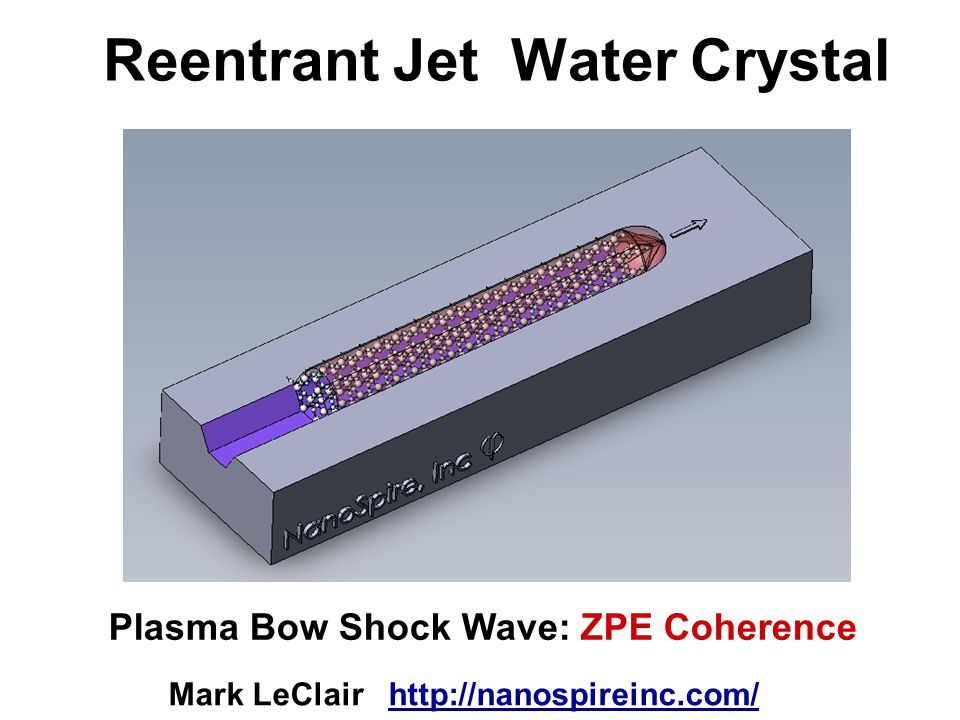 Reentrant Jet Water Crystal