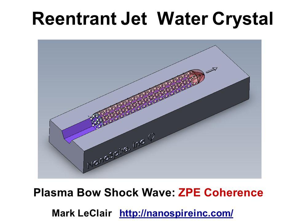 Reentrant Jet Water Crystal