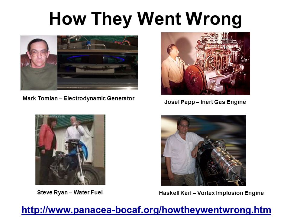 How They Went Wrong http://www.panacea-bocaf.org/howtheywentwrong.htm