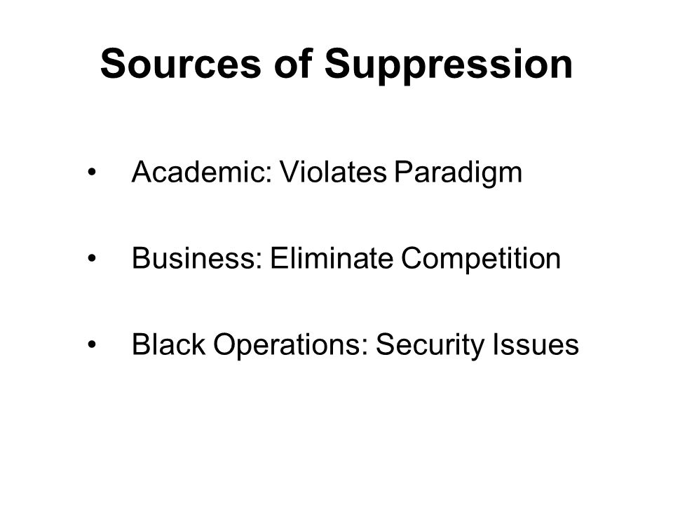 Sources of Suppression