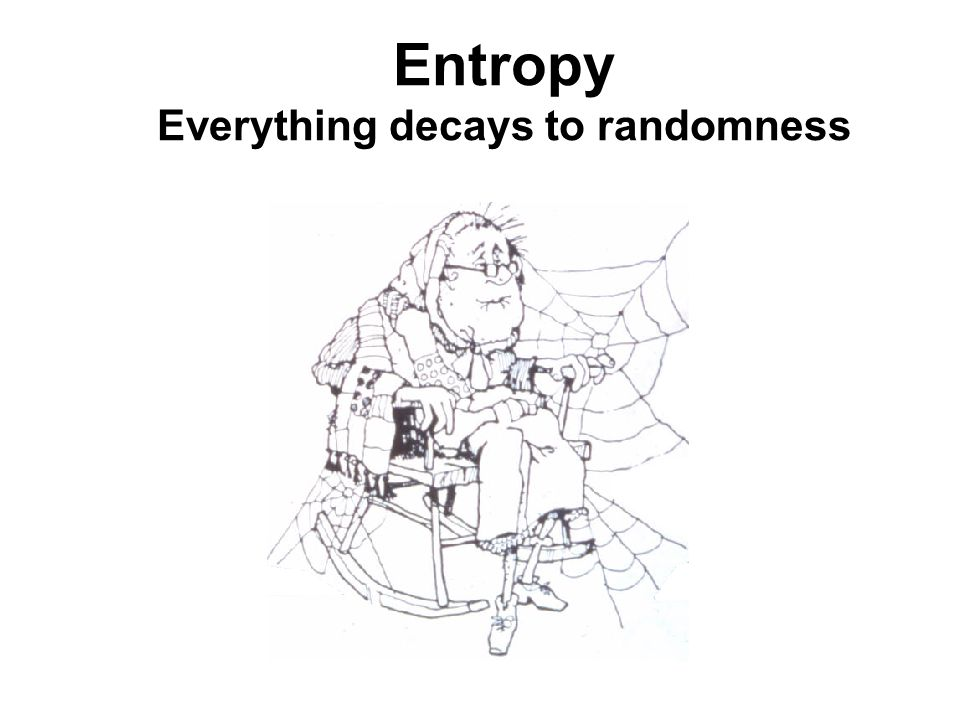 Entropy Everything decays to randomness