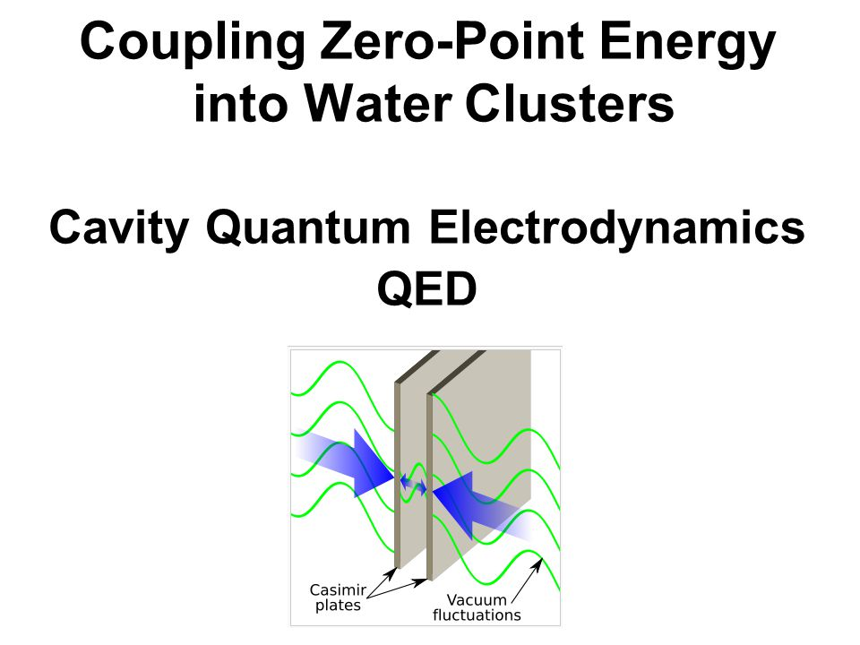 Coupling Zero-Point Energy into Water Clusters Cavity Quantum Electrodynamics QED