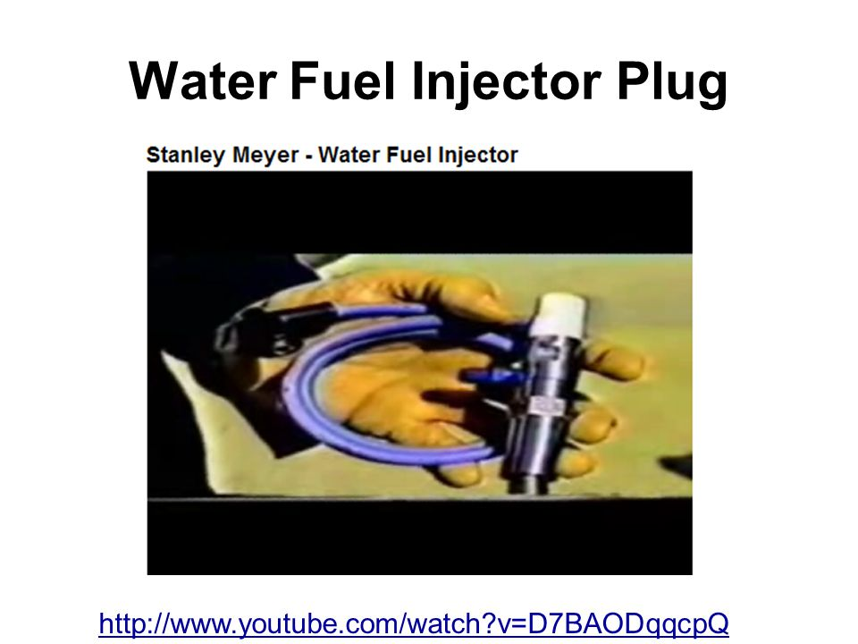 Water Fuel Injector Plug