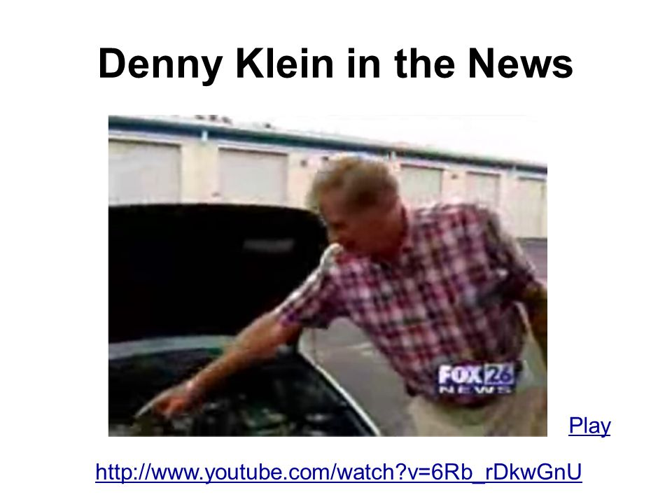 Denny Klein in the News Play