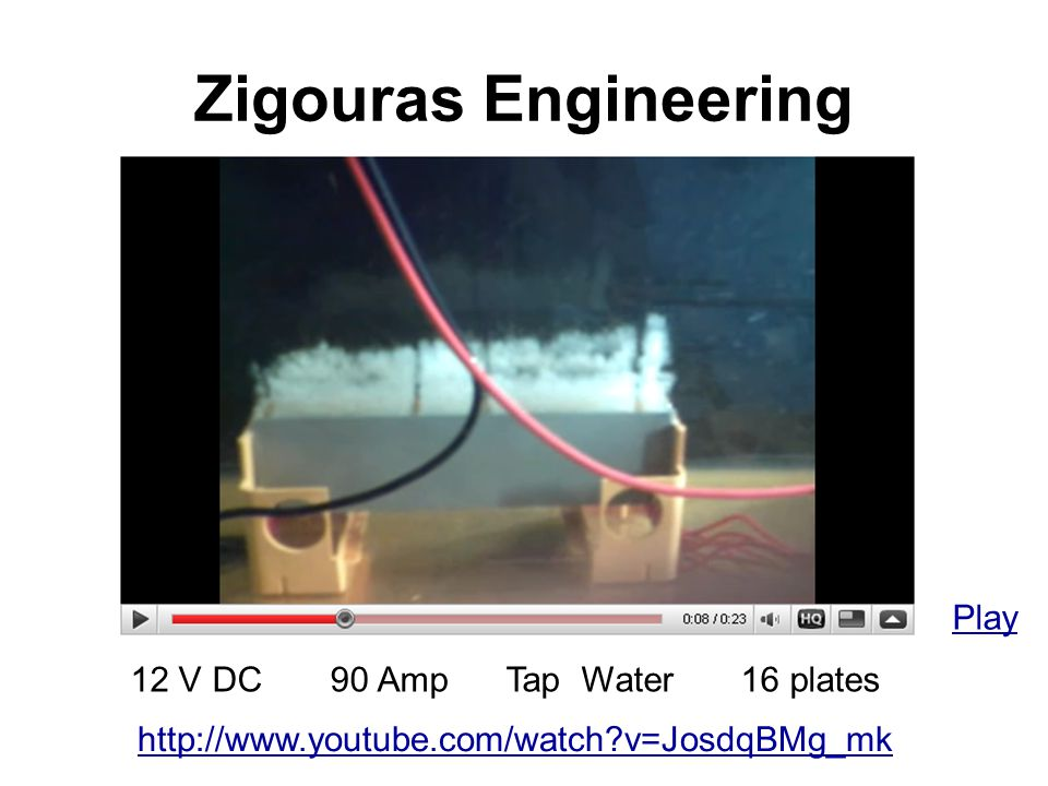 Zigouras Engineering Play 12 V DC 90 Amp Tap Water 16 plates