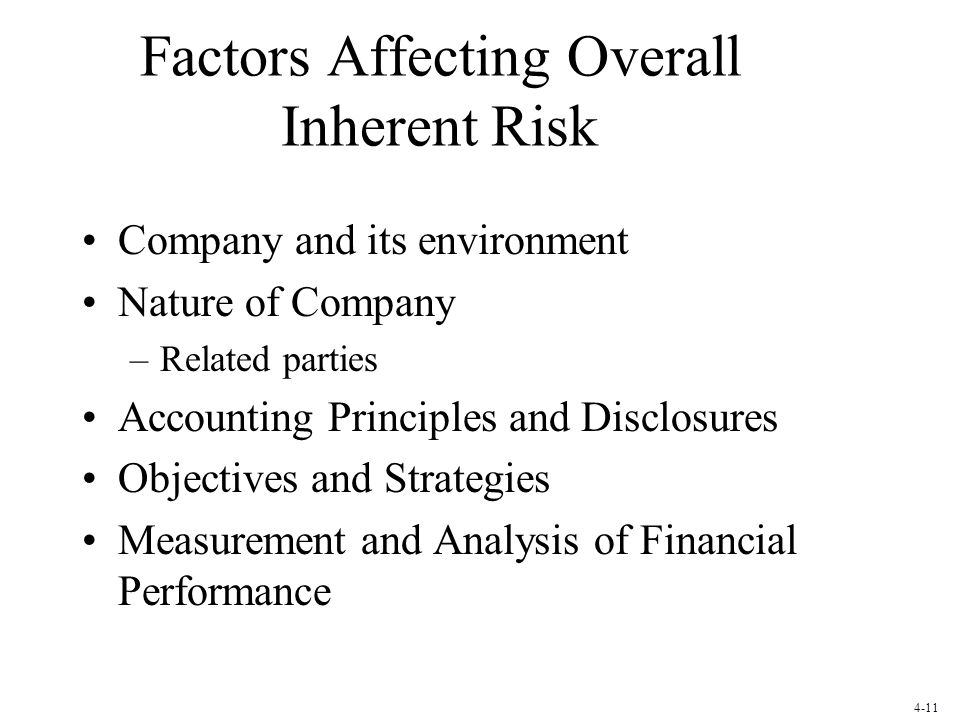Factors Affecting Overall Inherent Risk