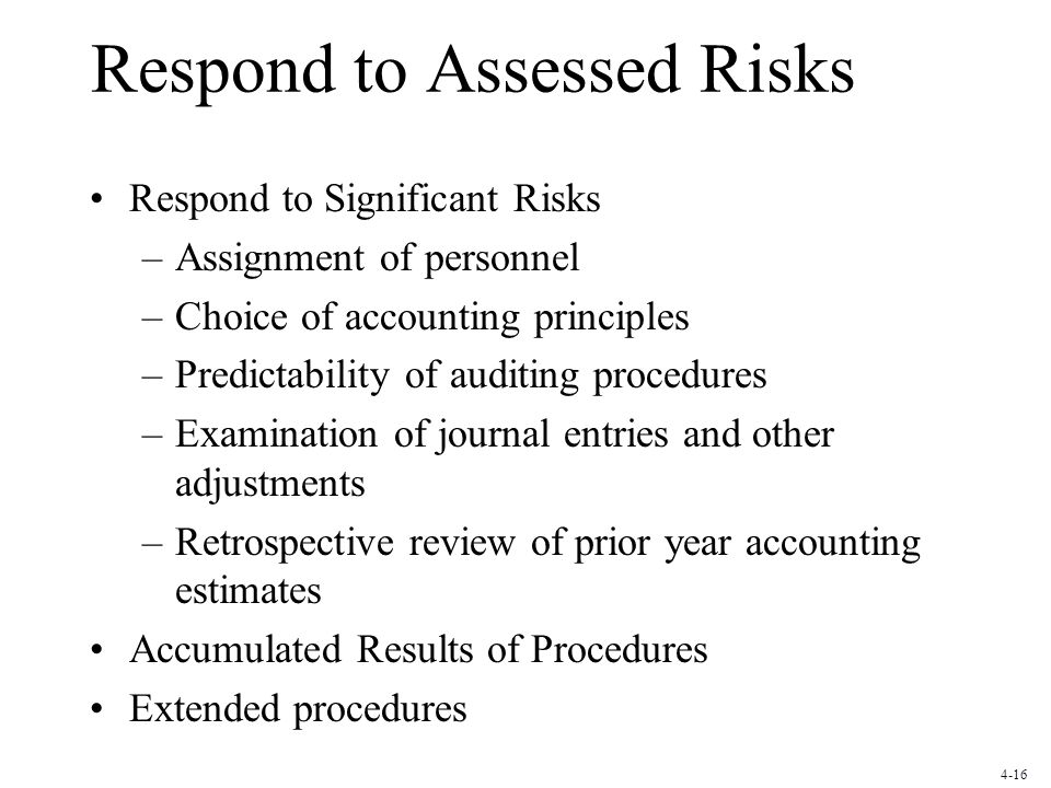 Respond to Assessed Risks