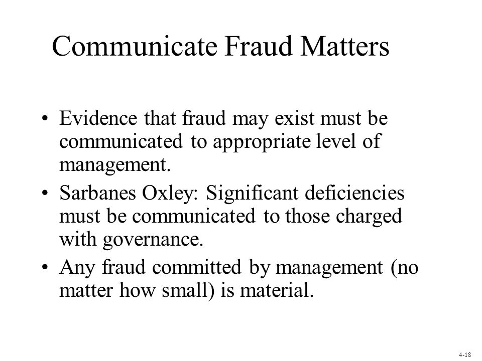 Communicate Fraud Matters