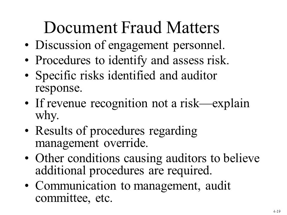 Document Fraud Matters