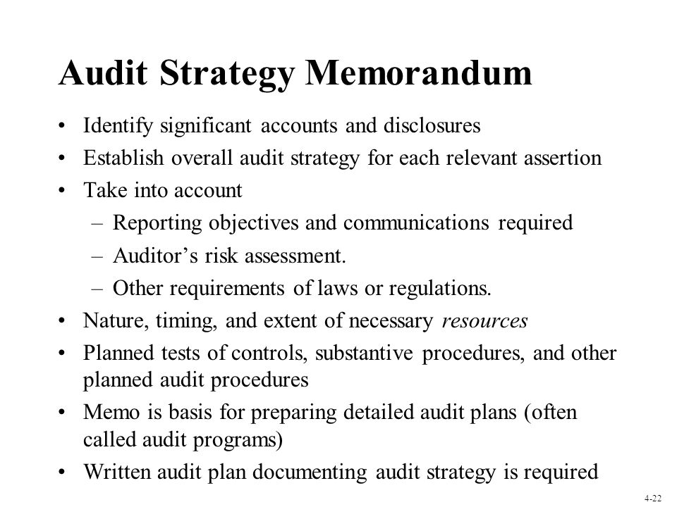 Audit Strategy Memorandum