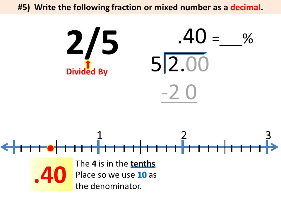 how to change a decimal number into a mixed fraction