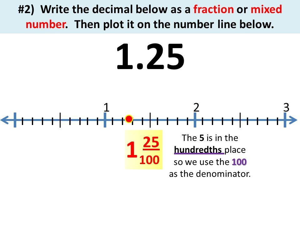 writing decimals as fractions or mixed numbers Almost everyone knows what a decimal number means, but let's review it  i/j to  a decimal, all you need to do is a long division where you write.