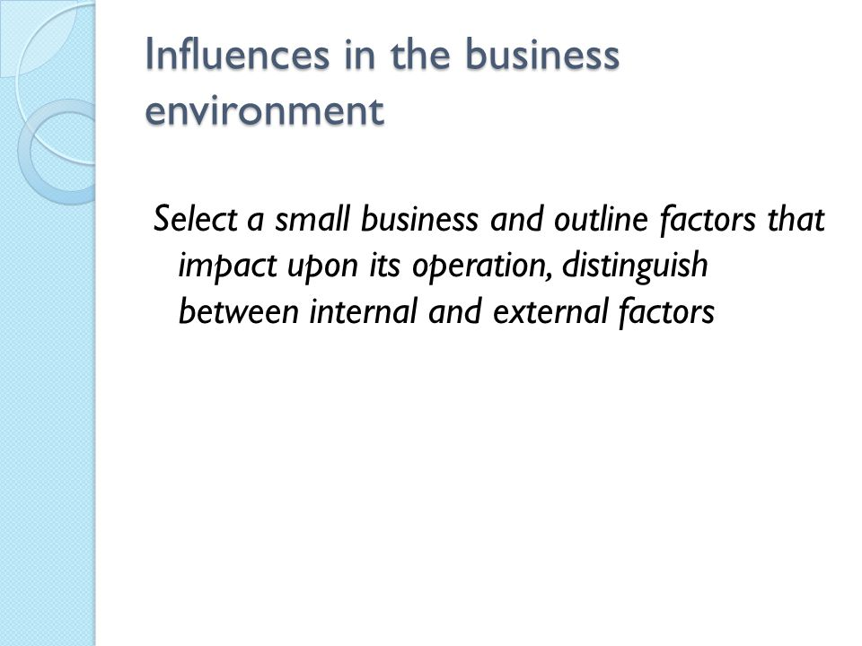 "business operation influences ""how marketing affects your organization or business"" page: 1 outline: marketing is the most critical business function that many companies ignore and/or under utilize."