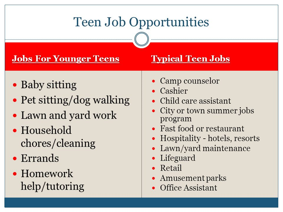 office jobs for teens