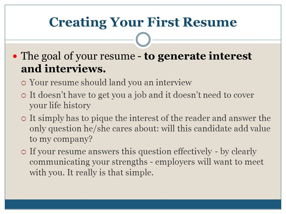 finding your first job ppt video online download