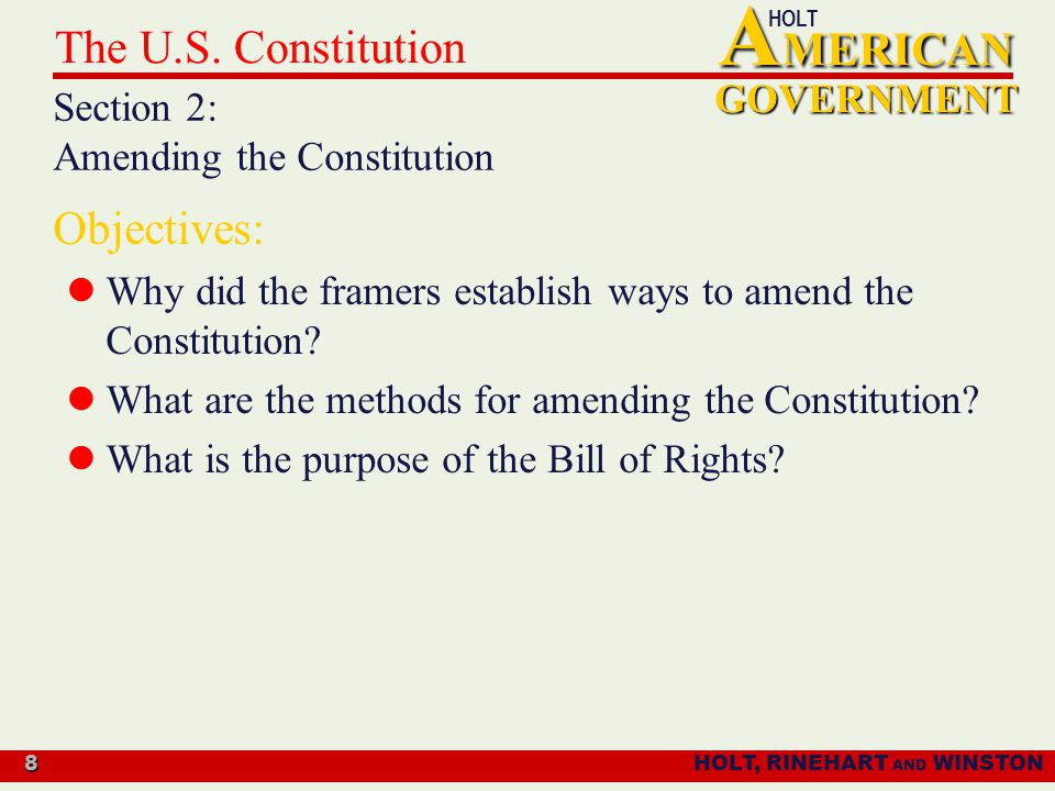 what is actually your motive of a article content throughout the actual usa constitution
