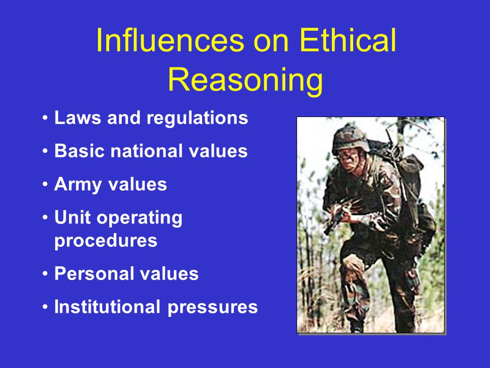 Ethics in the army essay