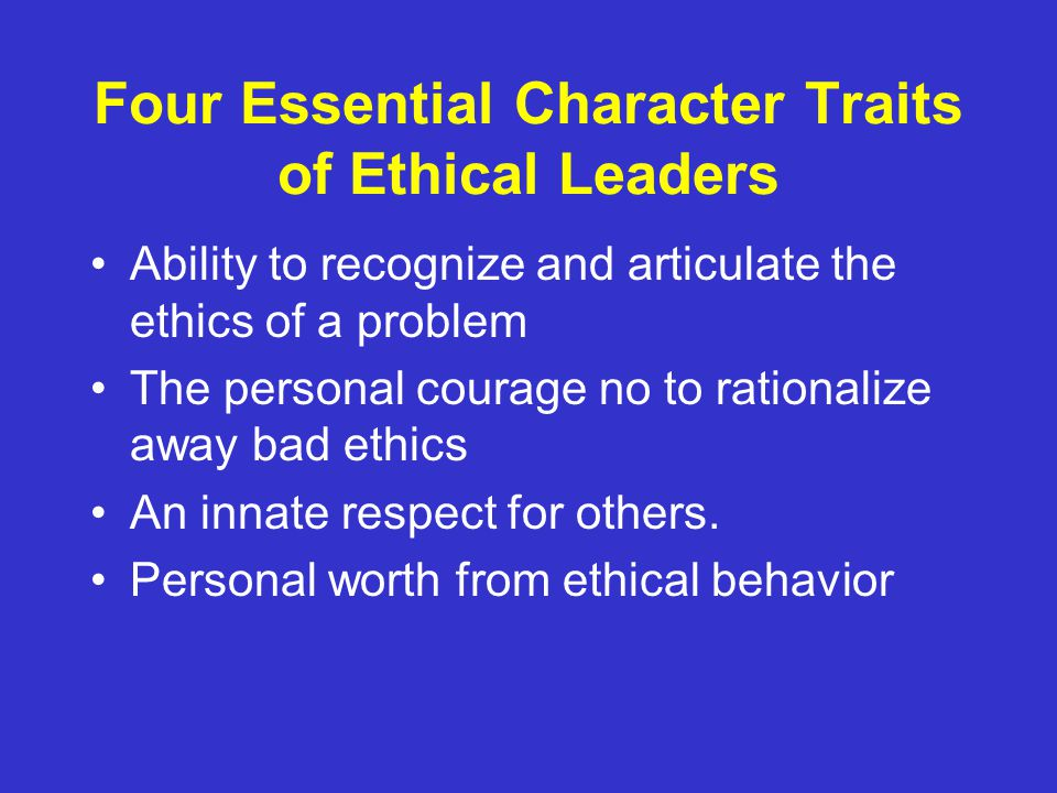 essay about leadership characteristics 101 leader traits and attributes stephen j zaccaro cary kemp paige bader t he concept of leader traits and attributes is indeed an old one, predating.