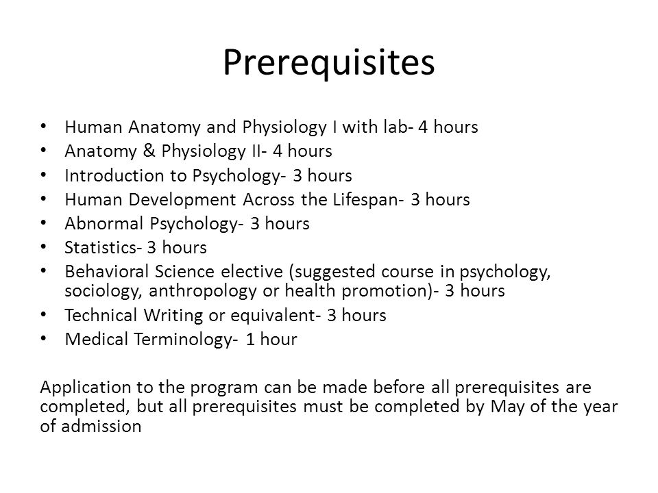 Increíble Prerequisites For Anatomy And Physiology Colección ...
