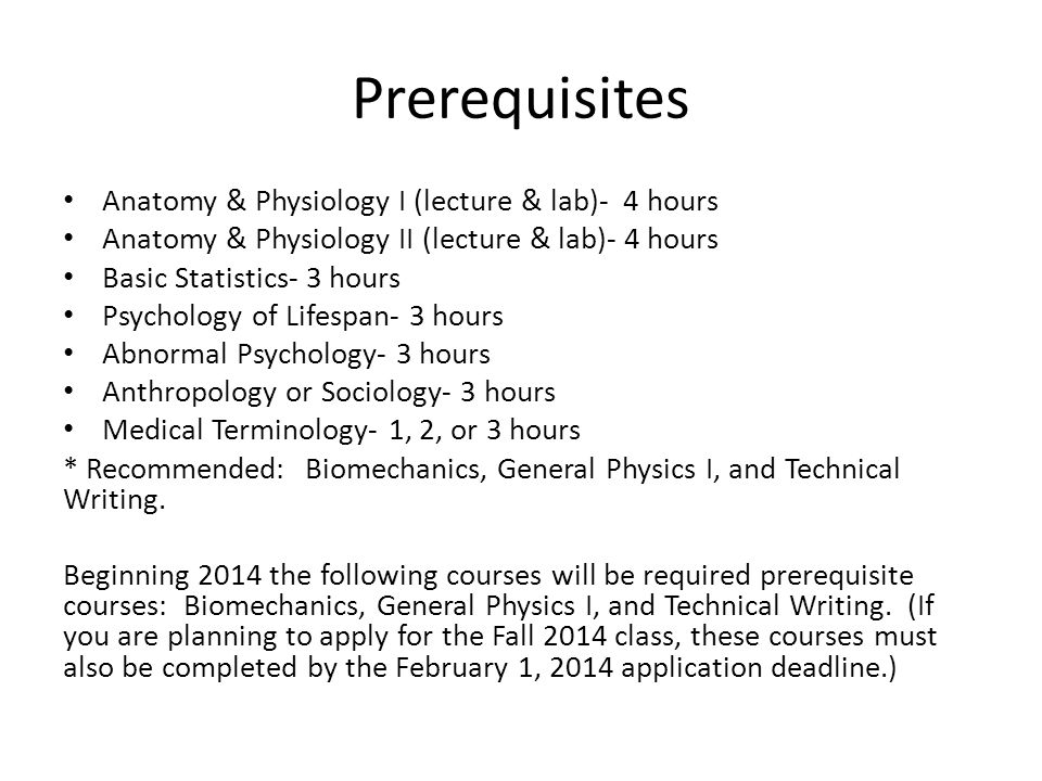 Magnífico Prerequisites For Anatomy And Physiology Festooning ...