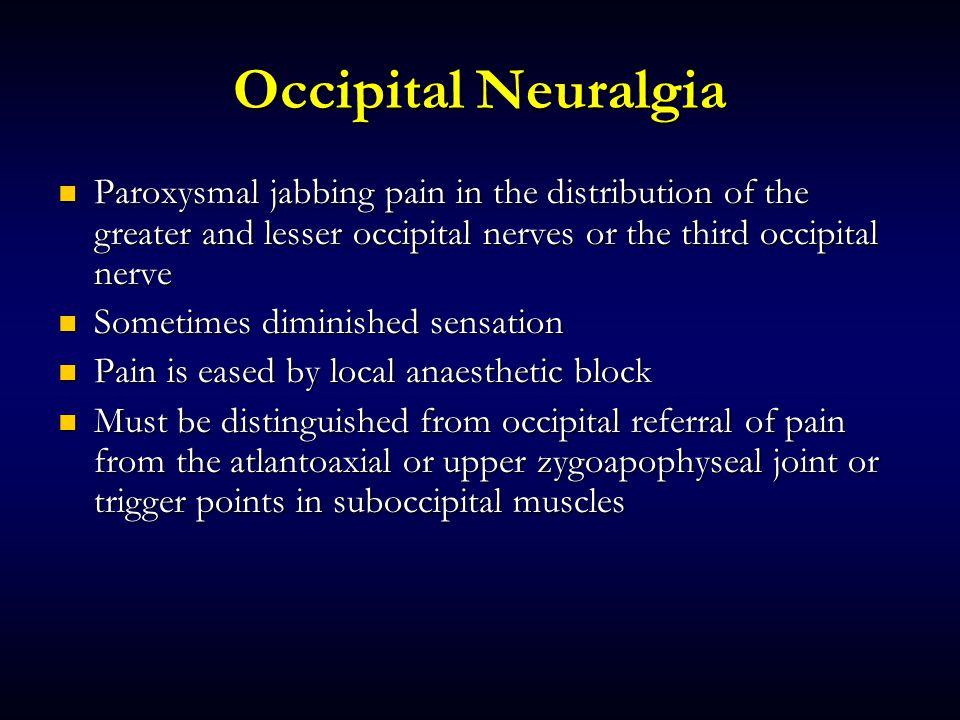 Cleveland Pain Care  Occipital Nerve Block