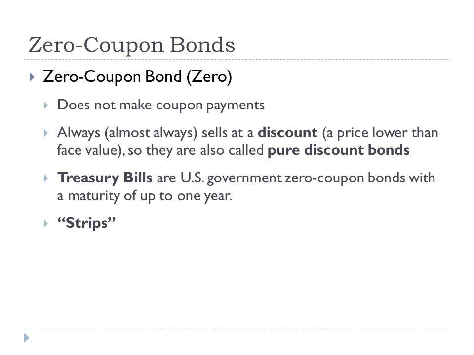 Pure discount bond vs zero coupon bond