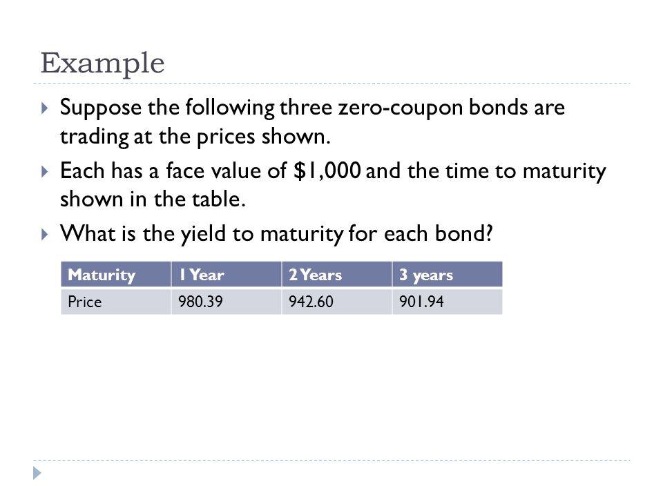 Zero coupon bond semi annually formula